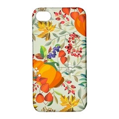 Autumn Flowers Pattern 11 Apple Iphone 4/4s Hardshell Case With Stand by tarastyle