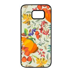 Autumn Flowers Pattern 11 Samsung Galaxy S7 Edge Black Seamless Case by tarastyle