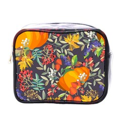 Autumn Flowers Pattern 12 Mini Toiletries Bags by tarastyle