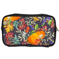 Autumn Flowers Pattern 12 Toiletries Bags 2 Side by tarastyle