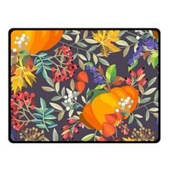 Autumn Flowers Pattern 12 Fleece Blanket (small) by tarastyle