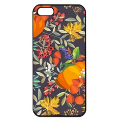 Autumn Flowers Pattern 12 Apple Iphone 5 Seamless Case (black) by tarastyle