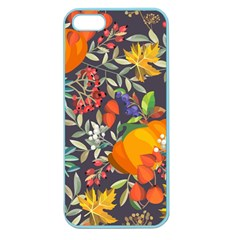 Autumn Flowers Pattern 12 Apple Seamless Iphone 5 Case (color) by tarastyle