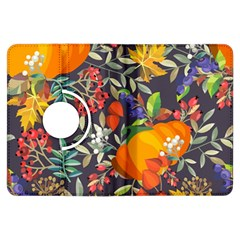 Autumn Flowers Pattern 12 Kindle Fire Hdx Flip 360 Case by tarastyle