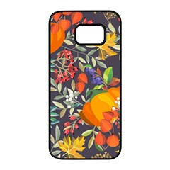 Autumn Flowers Pattern 12 Samsung Galaxy S7 Edge Black Seamless Case by tarastyle