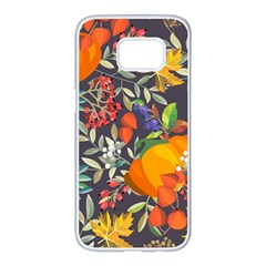 Autumn Flowers Pattern 12 Samsung Galaxy S7 Edge White Seamless Case by tarastyle