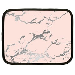 Luxurious Pink Marble 1 Netbook Case (large) by tarastyle
