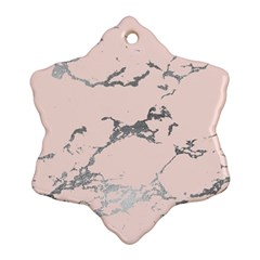 Luxurious Pink Marble 1 Ornament (snowflake) by tarastyle