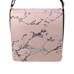 Luxurious Pink Marble 1 Flap Messenger Bag (l)  by tarastyle