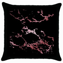 Luxurious Pink Marble 2 Throw Pillow Case (black) by tarastyle