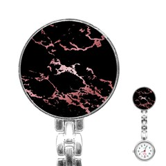 Luxurious Pink Marble 2 Stainless Steel Nurses Watch by tarastyle
