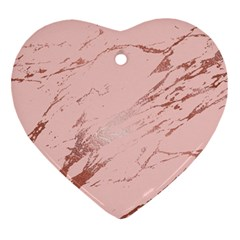 Luxurious Pink Marble 3 Ornament (heart) by tarastyle