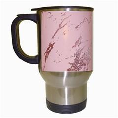 Luxurious Pink Marble 3 Travel Mugs (white) by tarastyle