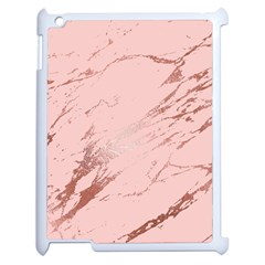 Luxurious Pink Marble 3 Apple Ipad 2 Case (white) by tarastyle
