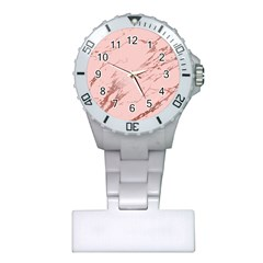 Luxurious Pink Marble 3 Plastic Nurses Watch by tarastyle