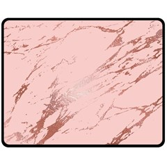 Luxurious Pink Marble 3 Double Sided Fleece Blanket (medium)  by tarastyle