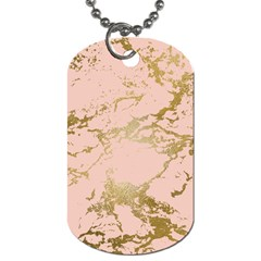 Luxurious Pink Marble 5 Dog Tag (two Sides) by tarastyle