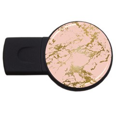 Luxurious Pink Marble 5 Usb Flash Drive Round (2 Gb) by tarastyle