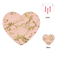 Luxurious Pink Marble 5 Playing Cards (heart)  by tarastyle