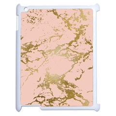 Luxurious Pink Marble 5 Apple Ipad 2 Case (white) by tarastyle
