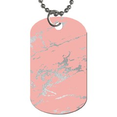 Luxurious Pink Marble 6 Dog Tag (one Side) by tarastyle