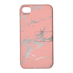 Luxurious Pink Marble 6 Apple Iphone 4/4s Hardshell Case With Stand by tarastyle