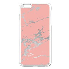 Luxurious Pink Marble 6 Apple Iphone 6 Plus/6s Plus Enamel White Case by tarastyle