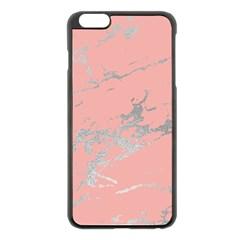 Luxurious Pink Marble 6 Apple Iphone 6 Plus/6s Plus Black Enamel Case by tarastyle