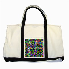 Colorful Squares Pattern                             Two Tone Tote Bag by LalyLauraFLM
