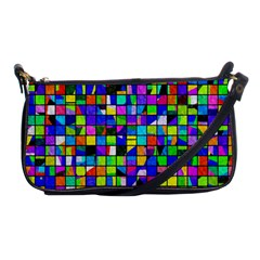 Colorful Squares Pattern                             Shoulder Clutch Bag by LalyLauraFLM