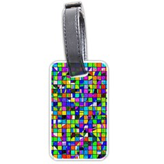 Colorful Squares Pattern                             Luggage Tag (one Side) by LalyLauraFLM