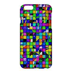Colorful Squares Pattern                       Apple Iphone 6 Plus/6s Plus Enamel White Case by LalyLauraFLM