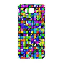 Colorful Squares Pattern                       Samsung Galaxy Alpha Hardshell Back Case by LalyLauraFLM
