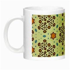 Stars And Other Shapes Pattern                               Night Luminous Mug by LalyLauraFLM