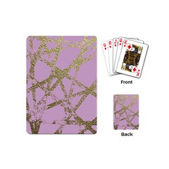 Modern,abstract,hand Painted, Gold Lines, Pink,decorative,contemporary,pattern,elegant,beautiful Playing Cards (mini)  by 8fugoso