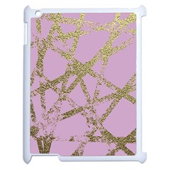 Modern,abstract,hand Painted, Gold Lines, Pink,decorative,contemporary,pattern,elegant,beautiful Apple Ipad 2 Case (white) by 8fugoso