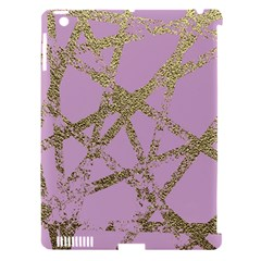Modern,abstract,hand Painted, Gold Lines, Pink,decorative,contemporary,pattern,elegant,beautiful Apple Ipad 3/4 Hardshell Case (compatible With Smart Cover) by 8fugoso
