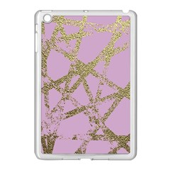 Modern,abstract,hand Painted, Gold Lines, Pink,decorative,contemporary,pattern,elegant,beautiful Apple Ipad Mini Case (white) by 8fugoso