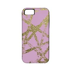 Modern,abstract,hand Painted, Gold Lines, Pink,decorative,contemporary,pattern,elegant,beautiful Apple Iphone 5 Classic Hardshell Case (pc+silicone) by 8fugoso