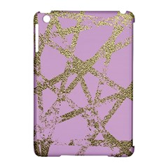 Modern,abstract,hand Painted, Gold Lines, Pink,decorative,contemporary,pattern,elegant,beautiful Apple Ipad Mini Hardshell Case (compatible With Smart Cover) by 8fugoso