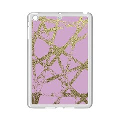 Modern,abstract,hand Painted, Gold Lines, Pink,decorative,contemporary,pattern,elegant,beautiful Ipad Mini 2 Enamel Coated Cases by 8fugoso