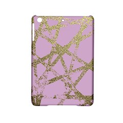 Modern,abstract,hand Painted, Gold Lines, Pink,decorative,contemporary,pattern,elegant,beautiful Ipad Mini 2 Hardshell Cases by 8fugoso