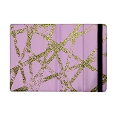 Modern,abstract,hand Painted, Gold Lines, Pink,decorative,contemporary,pattern,elegant,beautiful Ipad Mini 2 Flip Cases by 8fugoso