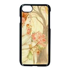 Beautiful Art Nouveau Lady Apple Iphone 8 Seamless Case (black) by 8fugoso