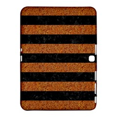 Stripes2 Black Marble & Rusted Metal Samsung Galaxy Tab 4 (10 1 ) Hardshell Case  by trendistuff