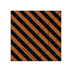 Stripes3 Black Marble & Rusted Metal Acrylic Tangram Puzzle (4  X 4 ) by trendistuff