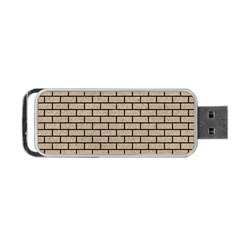 Brick1 Black Marble & Sand Portable Usb Flash (one Side) by trendistuff
