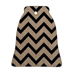 Chevron9 Black Marble & Sand Ornament (bell) by trendistuff