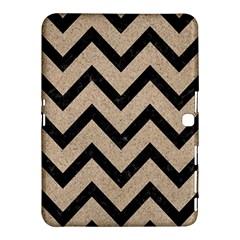 Chevron9 Black Marble & Sand Samsung Galaxy Tab 4 (10 1 ) Hardshell Case  by trendistuff