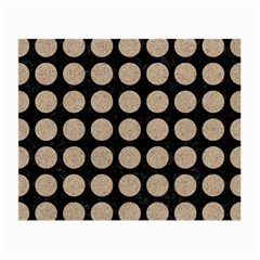 Circles1 Black Marble & Sand (r) Small Glasses Cloth (2 Side) by trendistuff